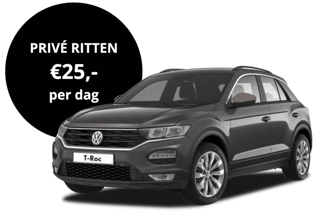 Kosten om een Volkswagen T-Roc te huren via het autodeelplatform van FIGO