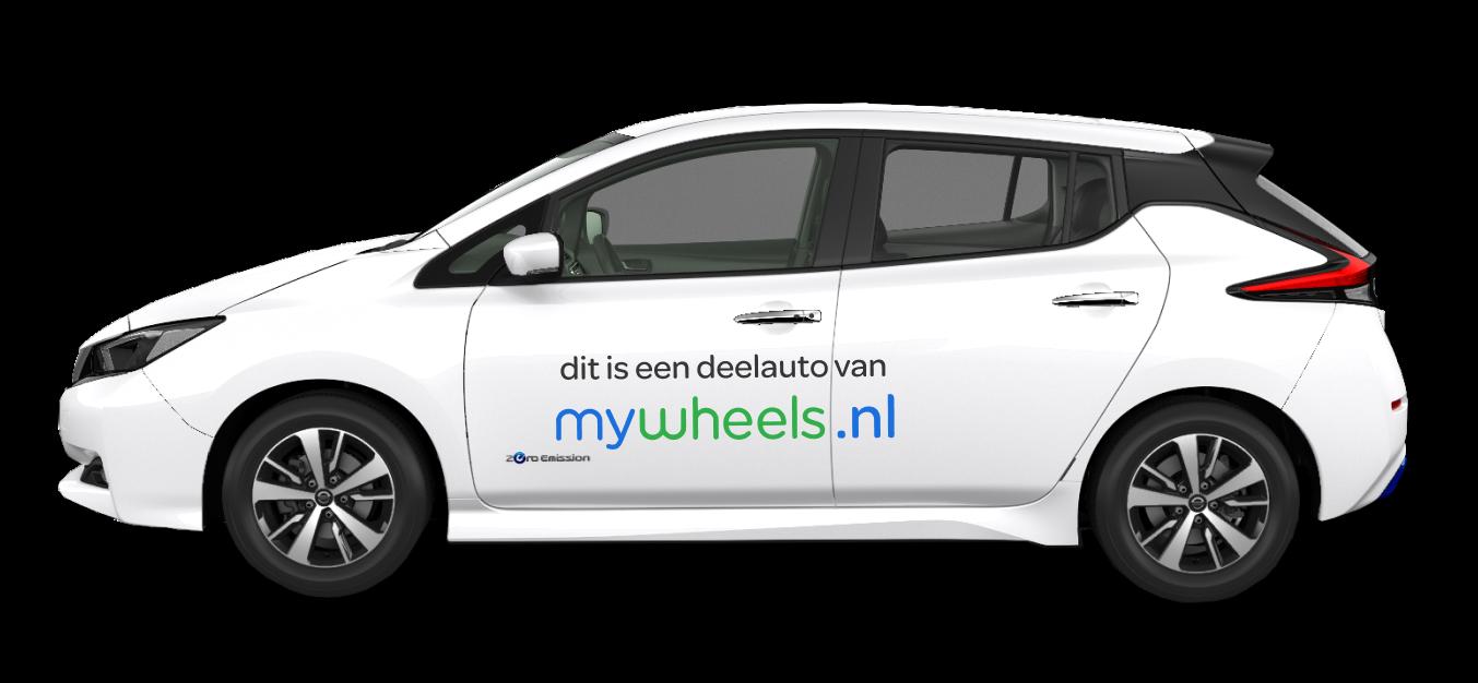 Nissan Leaf op het FIGO platform in samenwerking met Mywheels